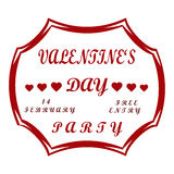 Vector illustration of logo for the theme Valentines Day Royalty Free Stock Image