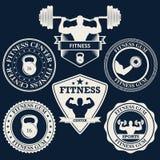 Vector illustration logos fitness center Stock Image