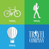 Vector illustration, logos for travel services Stock Photos