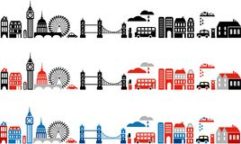 Vector illustration of London city - 2 stock illustration