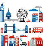 Vector illustration of London landmarks Royalty Free Stock Photo