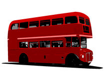 Vector illustration of  London Red Bus Stock Image
