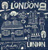 Vector illustration with London symbols Stock Photo