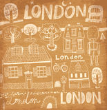 Vector illustration with London symbols Royalty Free Stock Image