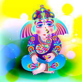 Vector illustration of Lord Ganesha Royalty Free Stock Photography