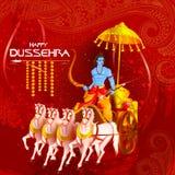 Lord Rama killing Ravana in Happy Dussehra festival of India Stock Photography