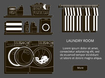 Vector illustration of loundry room Stock Photo