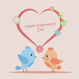 Vector illustration of Love Birds Stock Images