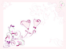 Vector Illustration of love flower heart Stock Images