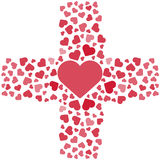Vector illustration. Love, hearts. Valentines day. Be my valentine. 14 february. Cross. Royalty Free Stock Image