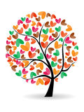 Vector illustration of a love tre Royalty Free Stock Photo