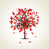 Vector illustration of a love tree Royalty Free Stock Photo