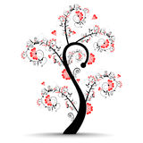 Vector illustration of a love tree Royalty Free Stock Photography