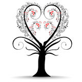 Vector illustration of a love tree Stock Image