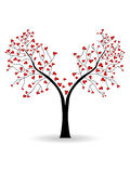 Vector illustration of a love tree Royalty Free Stock Image