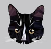 Vector illustration of low poly cat icon. Royalty Free Stock Photo