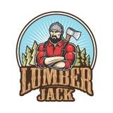 Vector illustration of lumberjack emblem Royalty Free Stock Photography