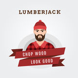 Vector Illustration of a lumberjack forester Stock Images