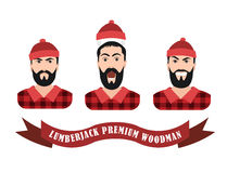 Vector Illustration of a lumberjack forester Royalty Free Stock Photography
