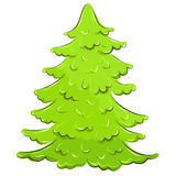 Vector illustration. lush Christmas tree Stock Image