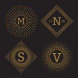 Vector illustration. Luxury design monograms Royalty Free Stock Photos