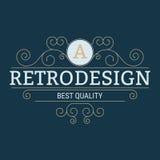 Vector illustration. Luxury design monograms. Retro design Stock Photography