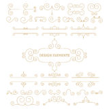 Vector illustration. Luxury linear design elements Stock Photos