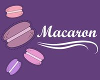 Vector illustration with macarons. royalty free stock images