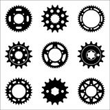 Set of various types of spocket wheel icons royalty free stock images
