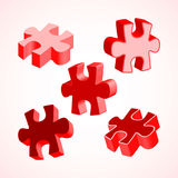 Vector illustration made from four colorful puzzle pieces Royalty Free Stock Photos