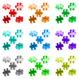 Vector illustration made from four colorful puzzle pieces Stock Photos