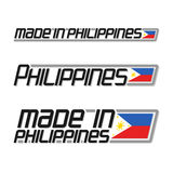 Vector illustration `made in Philippines`. Isolated filipino simple flags drawings, pilipinas national state flag and text philippines republic on white royalty free illustration
