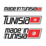 Vector illustration `made in Tunisia` Royalty Free Stock Photos