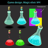 Vector illustration. Magic elixir in different Stock Photo