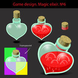 Vector illustration. Magic elixir in different Royalty Free Stock Photos