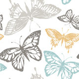 Vector illustration with magic hand drawn butterfly Royalty Free Stock Image