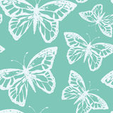 Vector illustration with magic hand drawn butterfly Stock Photos