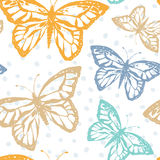 Vector illustration with magic hand drawn butterfly Royalty Free Stock Photo