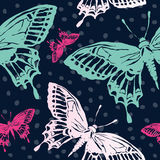 Vector illustration with magic hand drawn butterfly Stock Image