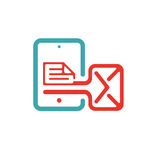 Vector illustration of mail icon on tablet. Stock Photos