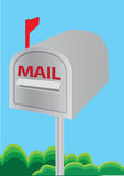 Vector illustration of a mailbox Stock Photos