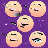 Vector illustration of make-up Royalty Free Stock Image