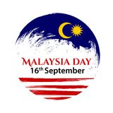 Vector illustration for Malaysia National Day, Malaysia flag in trendy grunge style. 31 August design template for. Poster, banner, flayer, greeting,invitation Stock Photo