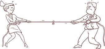Male and female conflict. Vector illustration of a male and female conflict vector illustration