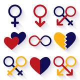 Vector illustration of male and female sex symbol Stock Photography