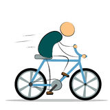 Vector illustration. Man riding a bike Royalty Free Stock Photography