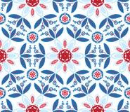 Vector illustration of mandala, seamless pattern Royalty Free Stock Photo