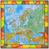 Vector illustration map of Europe. Stock Images