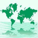 Vector illustration map of world Royalty Free Stock Image