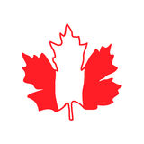 Vector illustration with maple leaf, Canada symbol Royalty Free Stock Photography